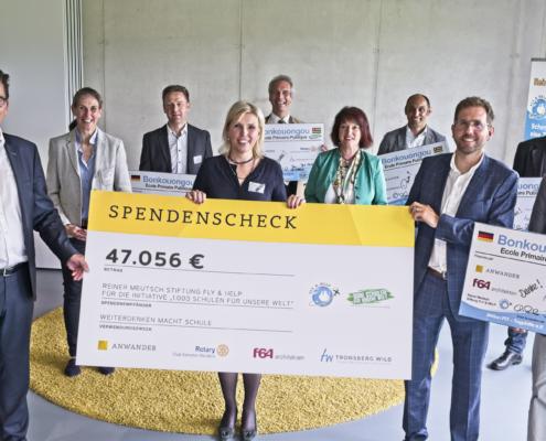 Spendenübergabe, Daniel Anwander, Heinz Waldmann, Sulzberg, Allgäu, Arbeitstsicherheit, Brandschutz, Allgäu